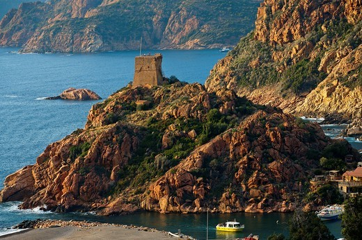 Village of Porto, Corsica Island  France : Stock Photo