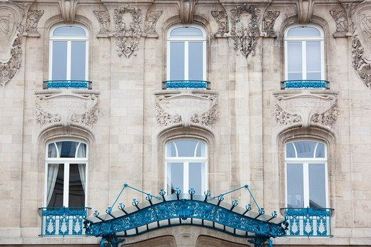 France, Meurthe-et-Moselle, Lorraine Region, Nancy, Chamber of Commerce building, art-nouveau style : Stock Photo