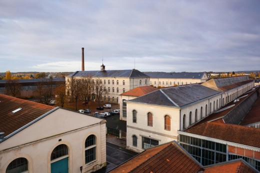 Stock Photo: 1566-709711 France, Poitou-Charentes Region, Vienne Department, Chatellerault, La Manu, former weapons factory now an exhibition space, overview
