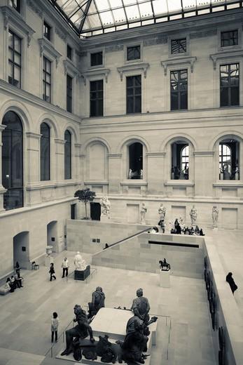 Stock Photo: 1566-709754 France, Paris, Musee du Louvre museum, sculpture atrium, NR