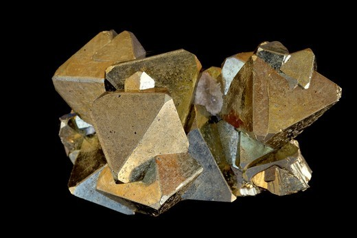Pyrite FeS2 Iron sulfide - Peru - Popularly known as ´fool´s gold´ - Formerly used in the production of sulfuric acid. : Stock Photo