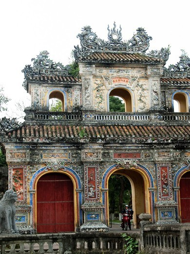 Perimeter wall and moat around the Imperial Palace in Hue, Vietnam : Stock Photo