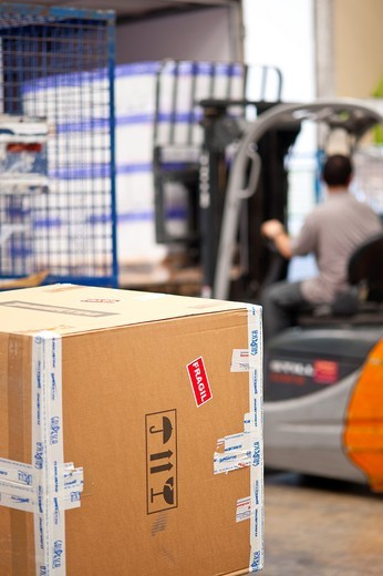 Stock Photo: 1566-717867 tranport, courrier, manufactory, logistics, storage