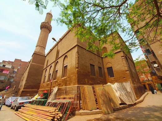 Mosque of Al Sayeda Safeia, Islamic Cairo, Egypt : Stock Photo