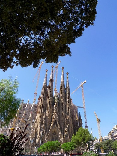 La Sagrada Familia by Gaudí. Barcelona. Catalunya. Spain : Stock Photo