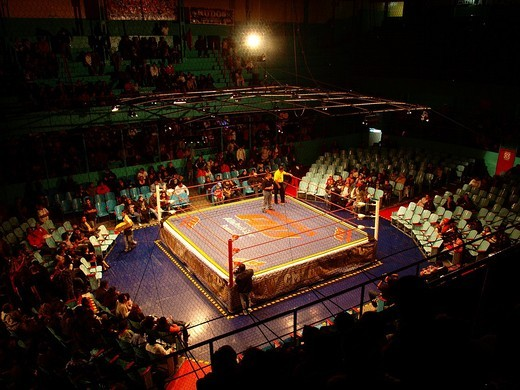 Wrestling ring, Puebla, Mexico : Stock Photo