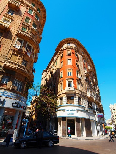 Alexandria Bank, Financial district, Alexandria, Egypt : Stock Photo