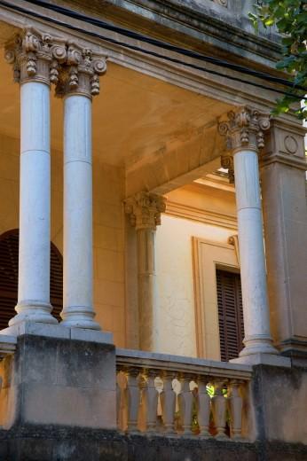 Can Cremat, Modernist house, Calle Gran Via, Sierra de Tramuntana Soller Mallorca Balearic Islands Spain : Stock Photo