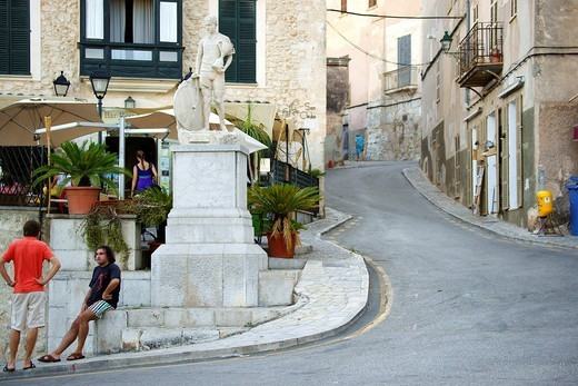 Rider Statue Francisco Alomar, Sineu Mallorca Illes Balears Es Pla Spain : Stock Photo