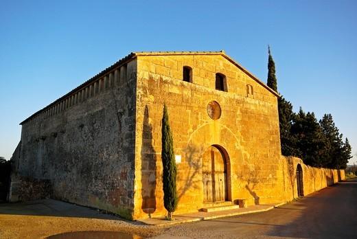 Oratorio de Sant Blai XIII century Cami de Sant Blai County Migjorn Campos Mallorca Baleares Spain : Stock Photo