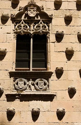 Casa de las Conchas, Salamanca, Castilla y León, Spain : Stock Photo