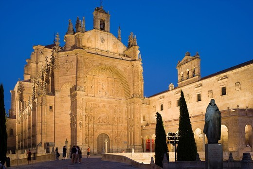 Convento de San Estéban, St Stephen convent, Salamanca, Castilla y León, Spain : Stock Photo