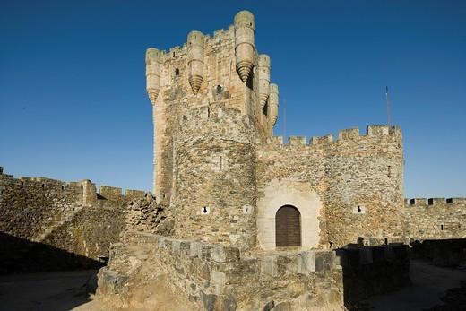 Stock Photo: 1566-722390 Castle, Monleón, Salamanca province, Castilla y León, Spain