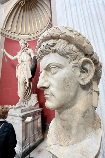 Rome  The Vatican Museums  Museo Chiaramonti : Stock Photo