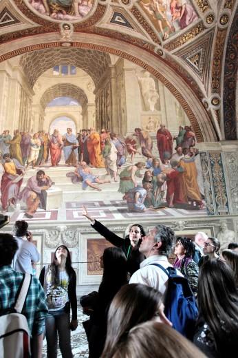 Stock Photo: 1566-723613 Rome  The Vatican Museums  Rafaels Stanza  Stanza delle Segnatura
