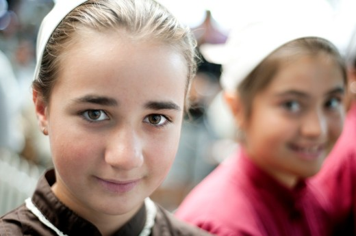 Kids in extraordinary market in Ordizia,euskadi : Stock Photo