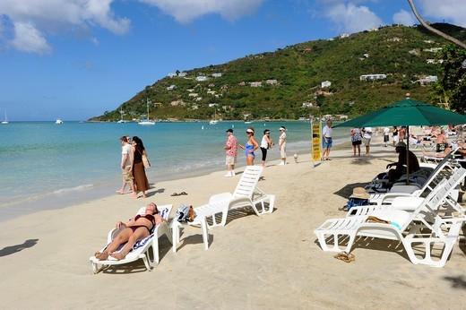Cane Garden Bay Beach Tortola BVI Caribbean Cruise : Stock Photo