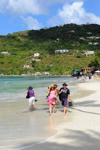Cane Garden Bay Beach Tortola BVI Caribbean Cruise : Stock Photo