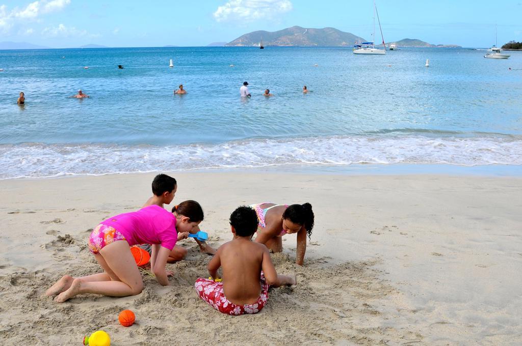 Stock Photo: 1566-723972 Cane Garden Bay Beach Tortola BVI Caribbean Playing in Sand