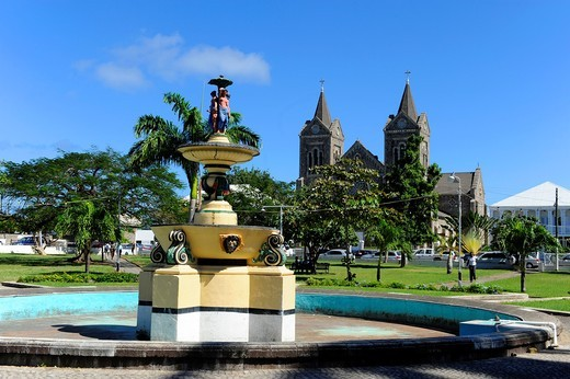 Stock Photo: 1566-724224 Independence Square Basseterre St  Kitts Caribbean Cruise NCL