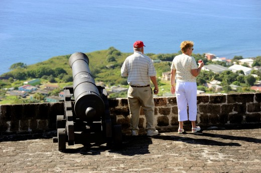 Stock Photo: 1566-724265 Brimstone Hll Fortress National Park Basseterre St  Kitts Caribbean, Island Cruise NCL