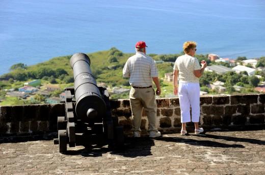 Brimstone Hll Fortress National Park Basseterre St  Kitts Caribbean, Island Cruise NCL : Stock Photo
