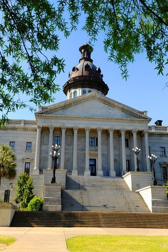Stock Photo: 1566-724518 Columbia South Carolina Buildings Statues and Landmarks on the State Capitol Capital grounds SC