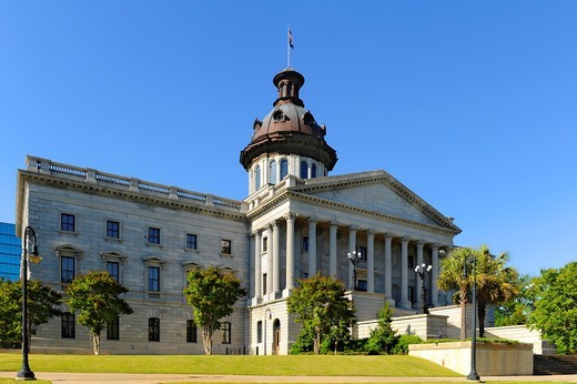 Stock Photo: 1566-724520 Columbia South Carolina Buildings Statues and Landmarks on the State Capitol Capital grounds SC