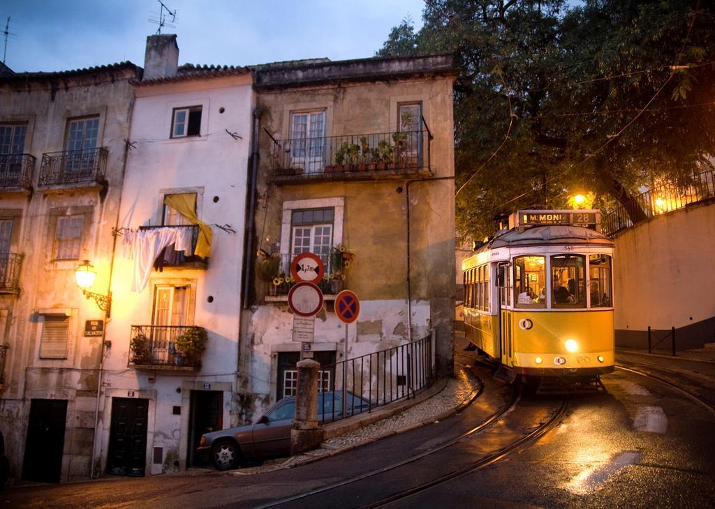 Tram 28 in Alfama, Lisboa, Portugal : Stock Photo