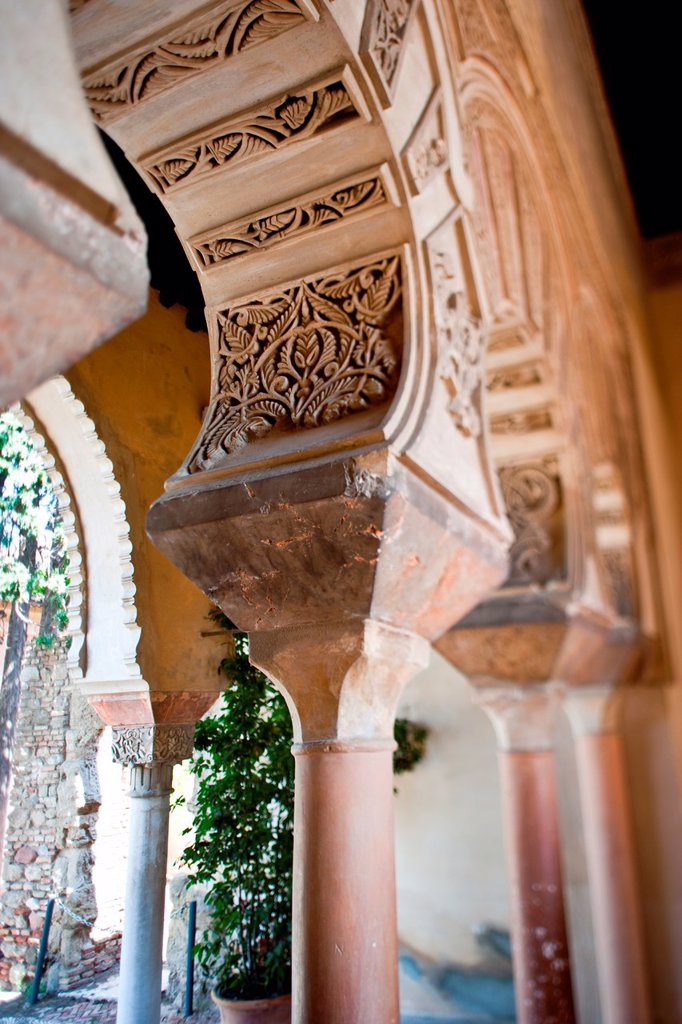 Stock Photo: 1566-726156 Alcazaba in Malaga, Andalucia, Spain