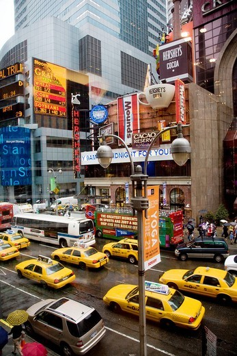 A rainy day in the Times Square, Manhattan,New York- 31 may 2008 : Stock Photo