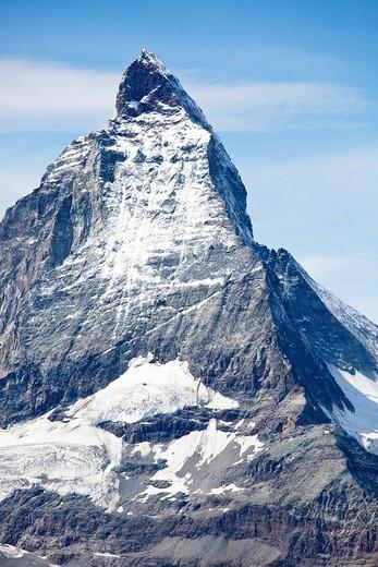 Stock Photo: 1566-727874 View of the Matterhorn, Gornergrat, Zermatt, Switzerland.
