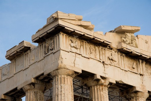 Detail of the Parthenon, Acropolis, Athens, Greece : Stock Photo