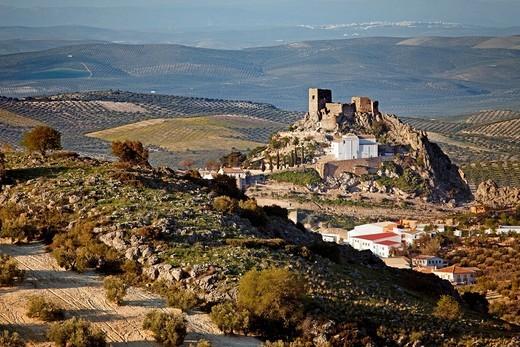 Stock Photo: 1566-729396 Castle of Luque. Cordoba, Andalusia, Spain.