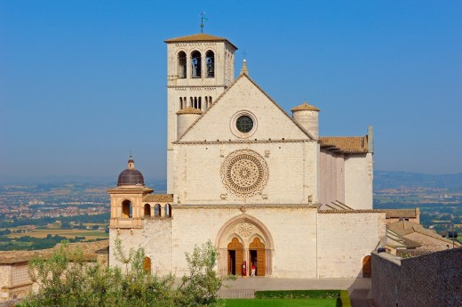 Stock Photo: 1566-729535 Assisi, Basilica di San Francesco  Basilica of Saint Francis  UNESCO World Heritage site  Perugia province  Umbria  Italy  Europe