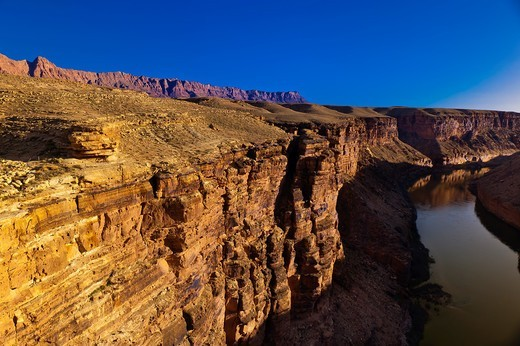 The Colorado River at Navajo Bridge, Paria Canyon-Vermillion Cliffs Wilderness Area, Arizona, USA : Stock Photo