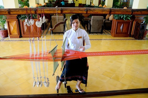 Vietnam, Can Tho province, Mekong Delta, Can Tho Hotel Victoria : Stock Photo