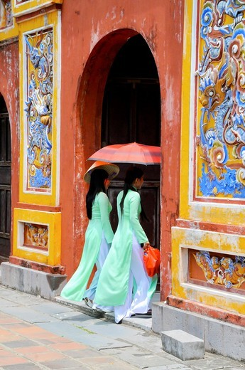 Stock Photo: 1566-730529 Vietnam, Thua Thien Hue, Hue classified World Heritage by UNESCO, an imperial city,