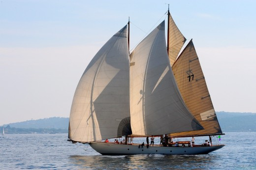 Stock Photo: 1566-731930 France, Var 83, Saint-Tropez, Les Voiles de Saint-Tropez meet every year in late September of beautiful classic yachts competing in regattas superb