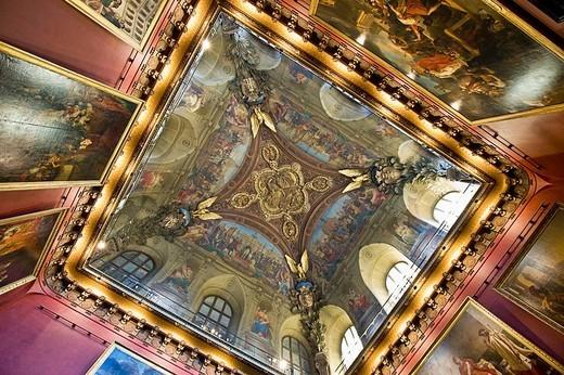Frescoes. Louvre Museum, Paris, France : Stock Photo