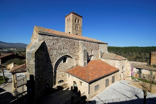 Church of Santa Maria in Buitrago del Lozoya, Madrid, Spain : Stock Photo