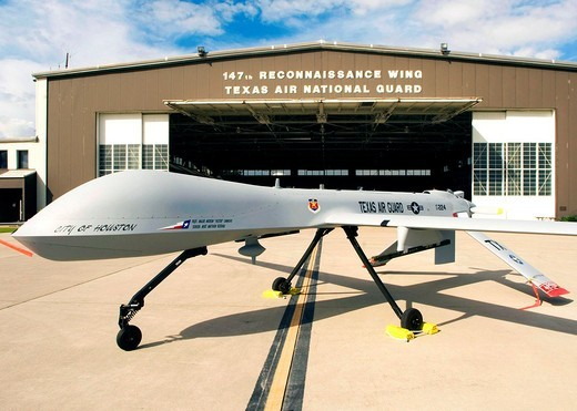 Stock Photo: 1566-735092 Officials released the MQ-1B Predator accident report Aug  20,2010, regarding the April 20, 2010, crash of a Predator, similar to the one pictured above  The remotely piloted aircraft was flying a training mission at Southern California Logistics Airport. Officials released the MQ-1B Predator accident report Aug  20,2010, regarding the April 20, 2010, crash of a Predator, similar to the one pictured above  The remotely piloted aircraft was flying a training mission at Southern California Logisti