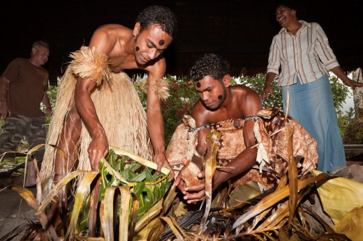 Natives perform Kava Ceremony, Pacific Harbour, Viti Levu, Fiji : Stock Photo