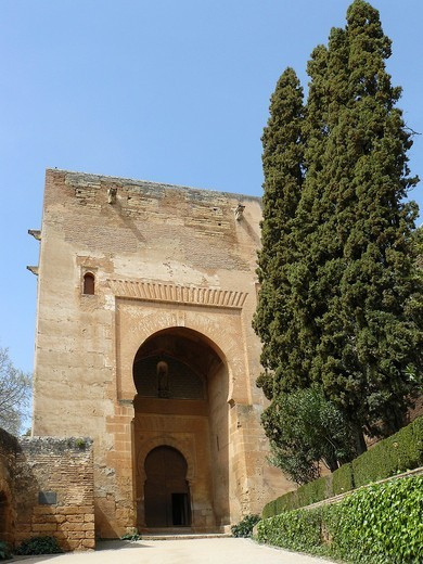 Granada Spain  Gate of Justice in the Alhambra in Granada : Stock Photo