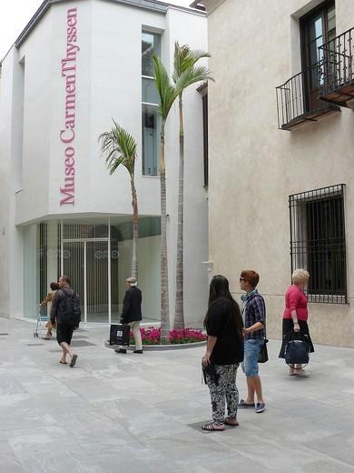 Stock Photo: 1566-735488 Malaga Spain  Carmen Thyssen Museum in the historic center of Malaga