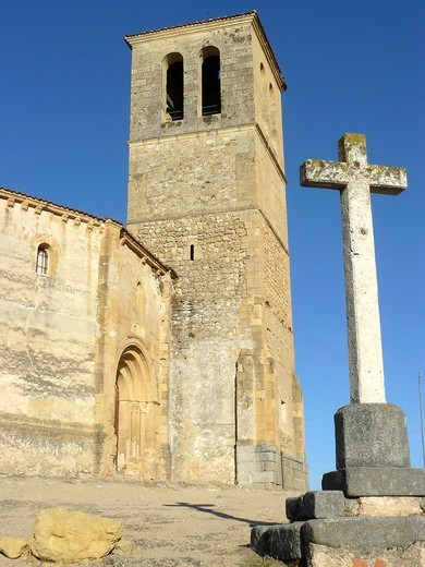 Segovia Spain  Church of Vera Cruz and the city of Segovia : Stock Photo