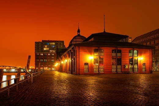 Fischauktionshalle at Hamburg Fish Market, Hamburg Harbour, Germany : Stock Photo