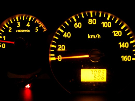 Stock Photo: 1566-735934 Speedometers a permissible maximum weight truck 3 500 kilos