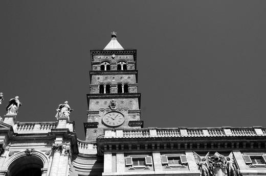 Church of Santa Maria Maggiore in Rome : Stock Photo