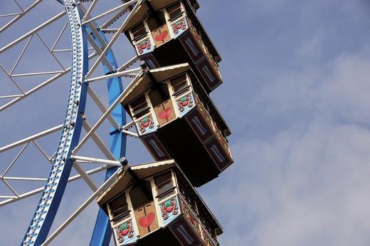 Gondolas of the Ferris Wheel Oktoberfest in Munich : Stock Photo